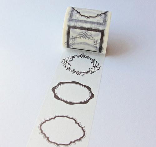 Japonská samolepící páska_rámečky stříbrné