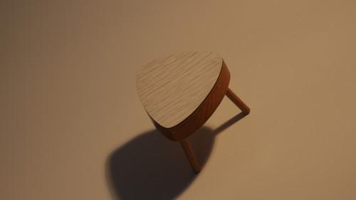 Umakartový stolek pro panenky retro