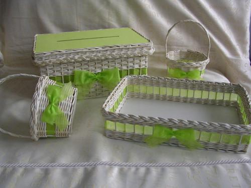 Svatební souprava Ivory-zelená