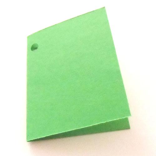 Visačky,  jmenovky pro další tvoření, zelené
