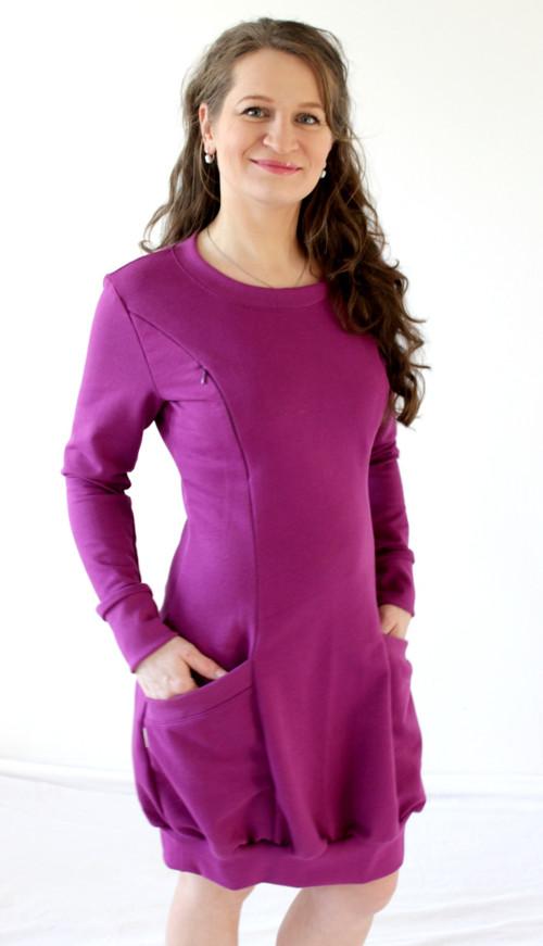 KOJÍCÍ šaty - TEPLÉ, 2v1 - velikost M