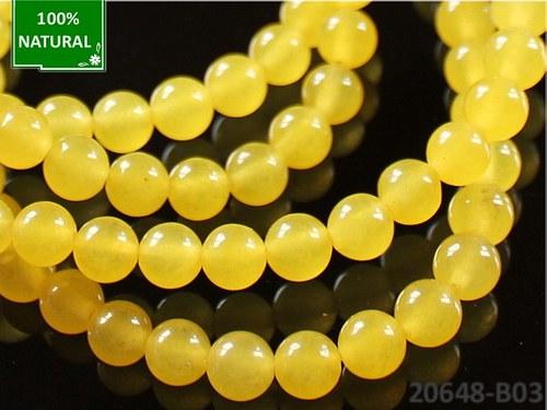 20648-B03 Přírodní JADEIT žlutý 6mm, bal. 10ks