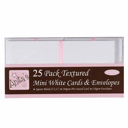 Obálky a karty 25ks s texturou čtvercové