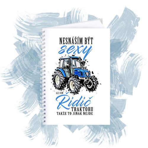 Zápisník s motivem - Sexy řidič traktoru