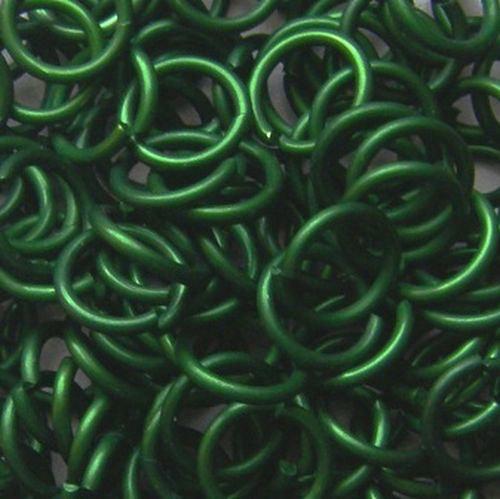 kroužky eloxovaný hliník 4/1,2 mm zelená 100ks