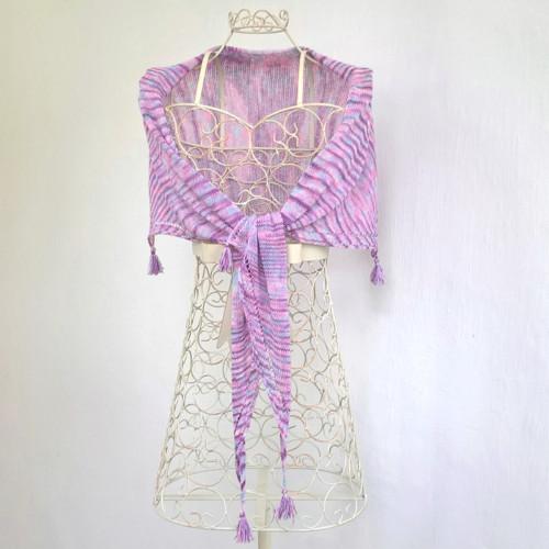 Jemnost - šátek z merina s hedvábím