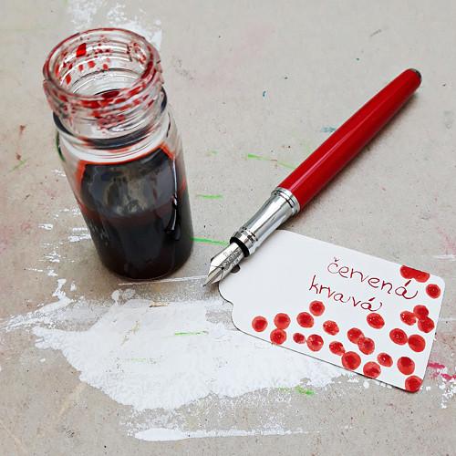 Inkoust - červená krvavá
