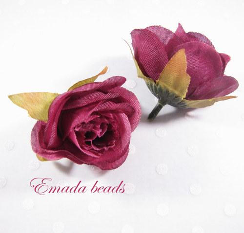 Hedvábná růže, délka 3 cm