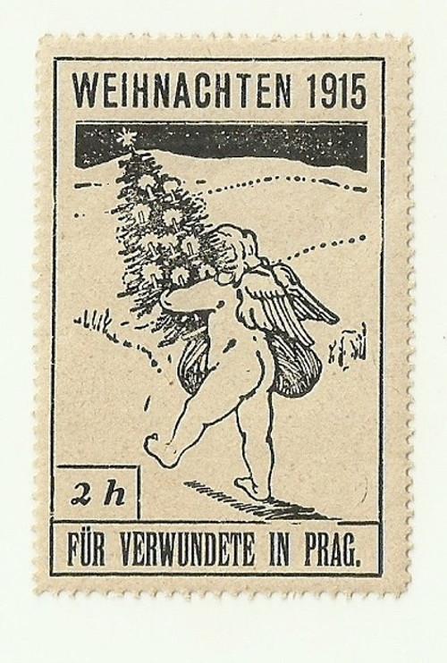 Zálepka Vánoce 1915 pro raněné v Praze