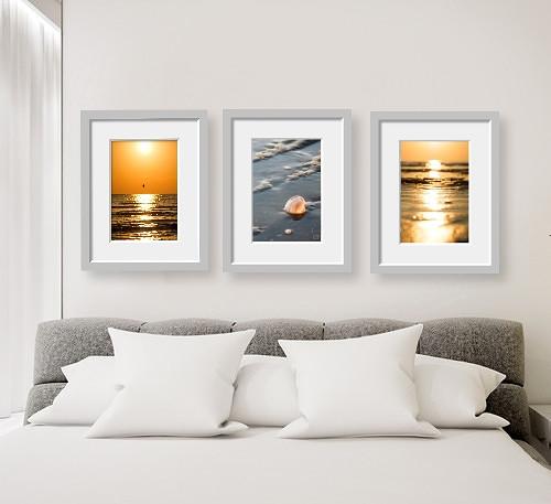 Svítání IV - triptych, autorská fotografie
