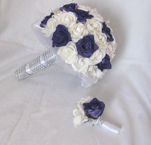 Svatební set - tmavě fialová