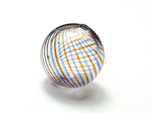 skleněný foukaný korálek 16mm