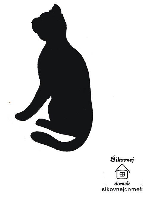 Razítko kočka 2 - v.10x5,5cm