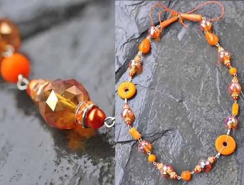 Náhrdelník oranžový N0187O