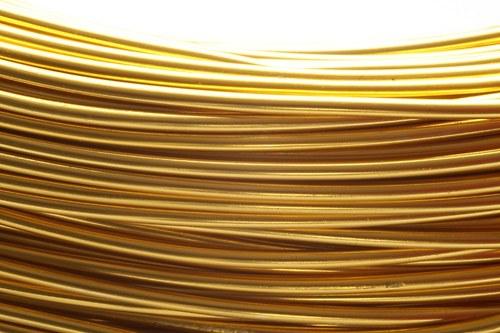 Alu drát zlatý (2 mm)