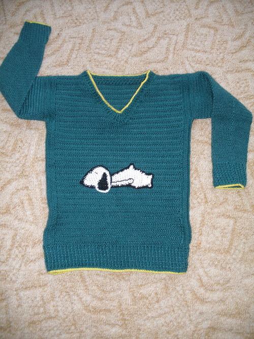 Háčkovaný svetr pro děti