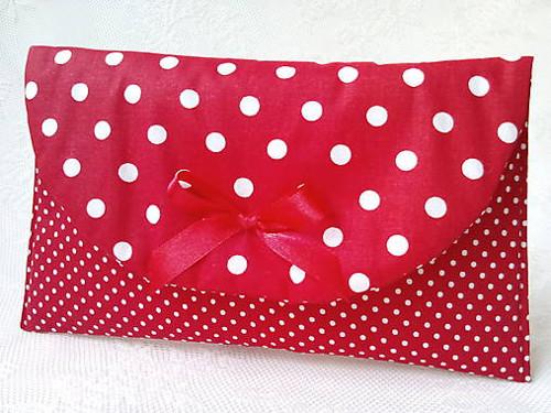 BonBon Karkulka pochette (red/white dots)
