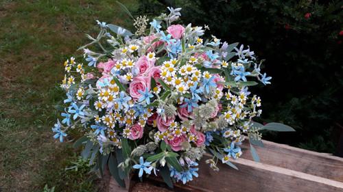 Svatební kytice - sada 5 ks