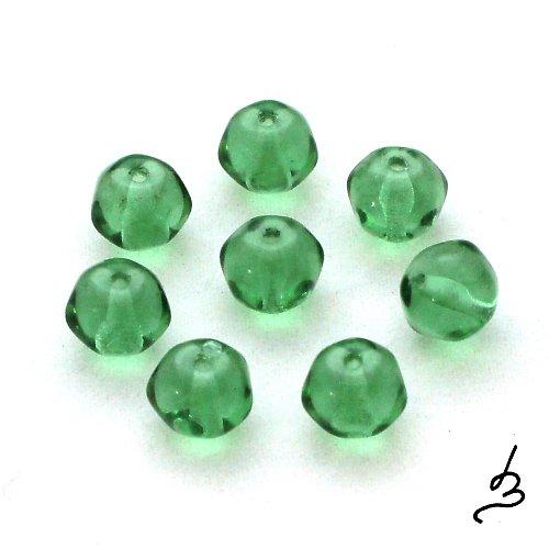 Zelené korálky - 15 ks