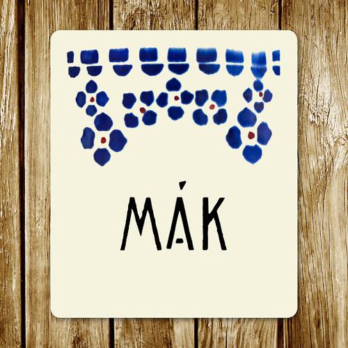 Mák - samolepka na nádobu