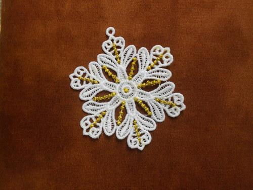 Vánoční ozdoba - sněhová vločka bílá AP1684004
