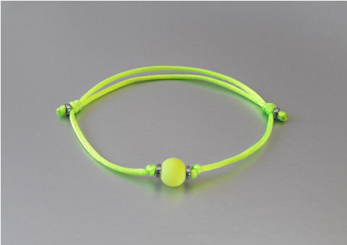 Náramek / Kabalah / Neon žlutý /