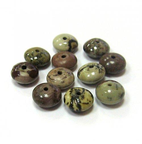 Jaspis leopardí - rondelky - 3 ks