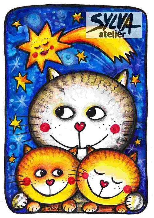 Kometa- pohlednice