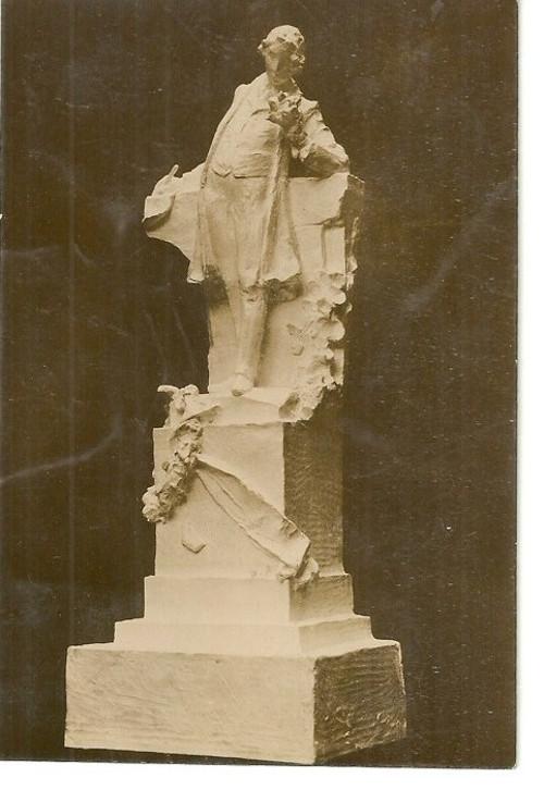 Umělecká pohlednice socha J.V.Myslbek K.H.Mácha