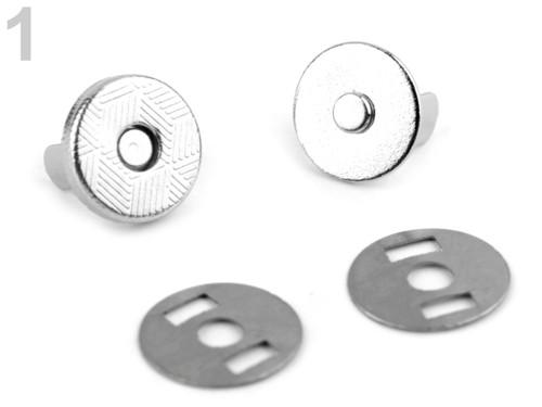 Magnetické zapínání Ø10mm (5sad) - nikl