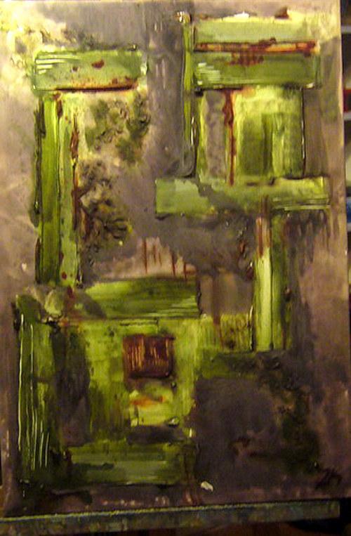 Abstraktní obraz 2K - Zapomenutý dům