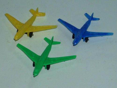 Gumové MINI letadla - sada 3 kusy - 60.tá léta