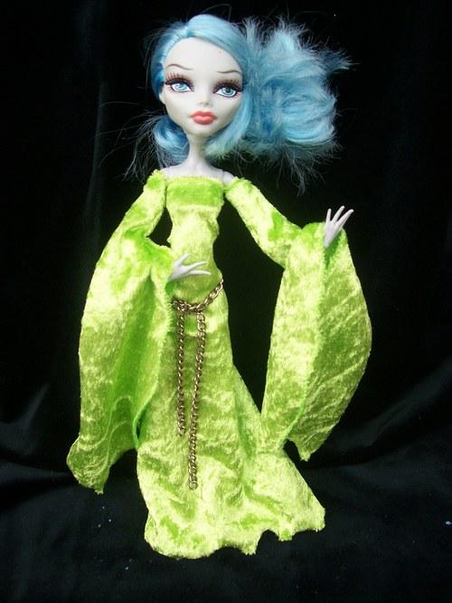 Sametové zelené pro Monster High