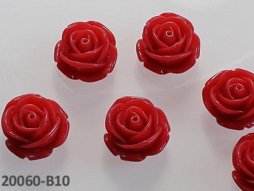 20060-B10 Kabošon květ růže ČERVENÝ, bal. 2ks