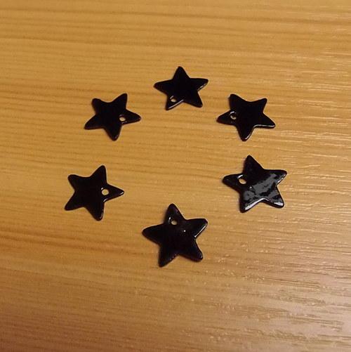 Perleťové hvězdičky - 13  mm