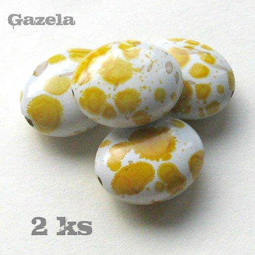Oválek dalmatin žlutý - 2 ks