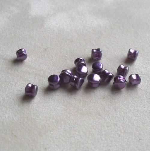 voskované 4mm fialové tvar bubínek 100ks