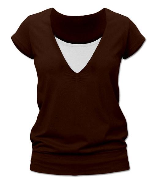 Kojicí tričko čokoládové