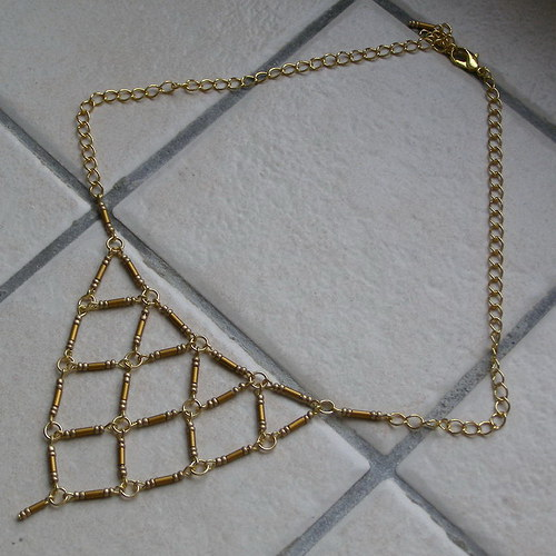 Trojúhelníčky náhrdelník