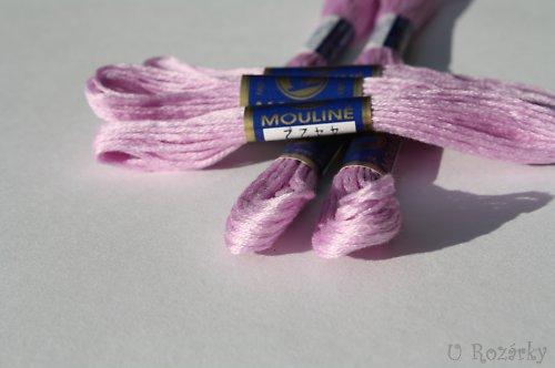 Vyšívací příze Mouline - světle fialová - za 2 ks!