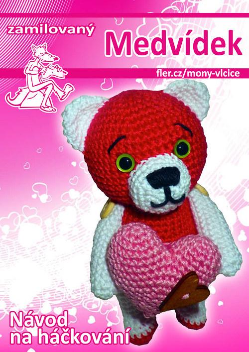 Háčkovaný zamilovaný medvídek - návod