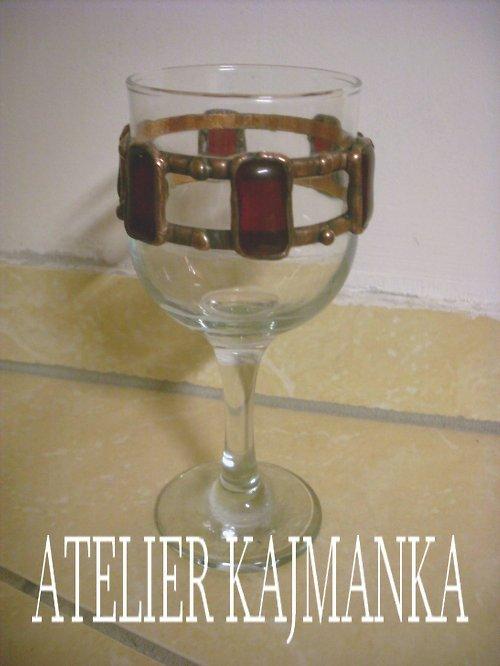 cínovaná sklenice