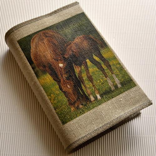Koně, nostalgie - obal na knihu