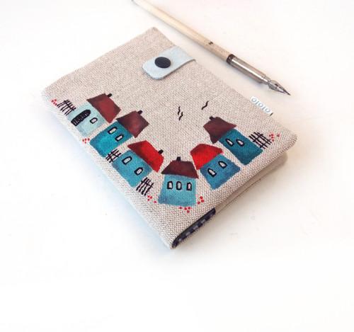 Zápisník Domečky modré - A6