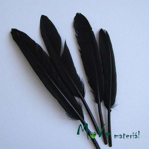 Ozdobné kachní peří délka 120-140mm, 4ks černé