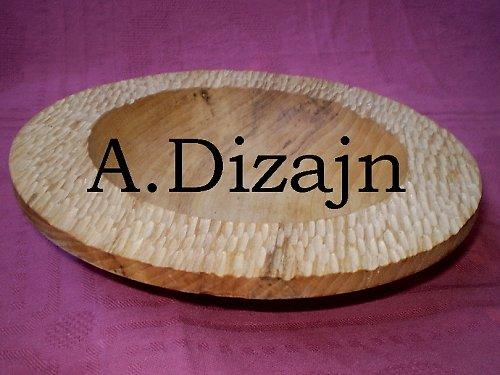 Vyrezávaný tanier z dreva /objednávka