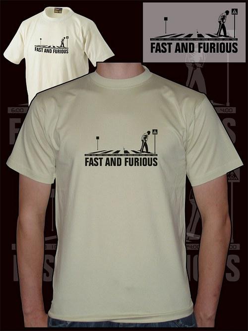 Pánské pískové tričko fast and furious