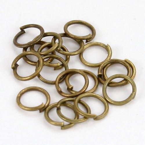 Bronzové kroužky 6 mm (50 ks)