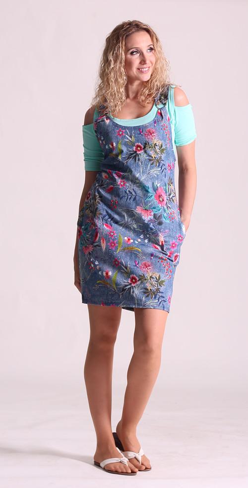 Šatová sukně s květy