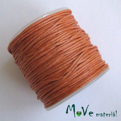 Šňůra voskovaná bavlněná Ø1mm, 3m, oranžová